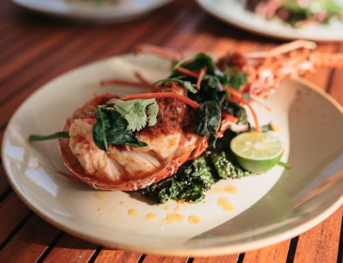 Island takeover: Daz's lobster with charred greens and XO butter