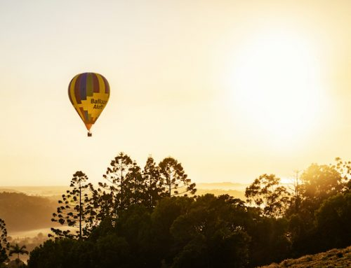 Hot air balloons and brekkie in Byron
